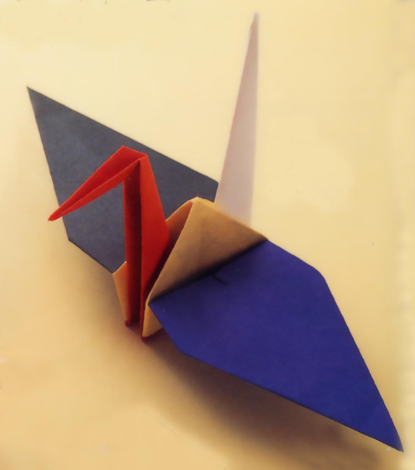 すべての折り紙 折り紙 くま 折り方 : 折り鶴の種類
