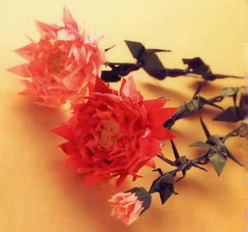 クリスマス 折り紙 折り紙 菊 : matome.naver.jp