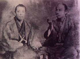 井上馨と伊藤俊輔 伊藤俊輔(左)と『心の友』井上聞多(右) 「この写真をポストカードにしてくださ